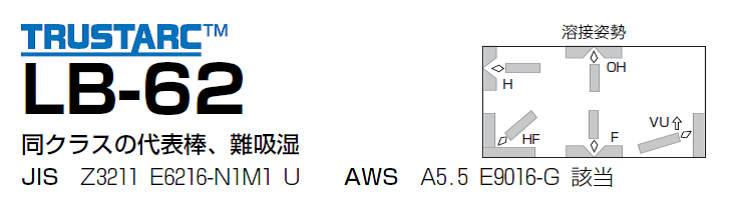神戸製鋼 低水素系溶接棒 LB-62