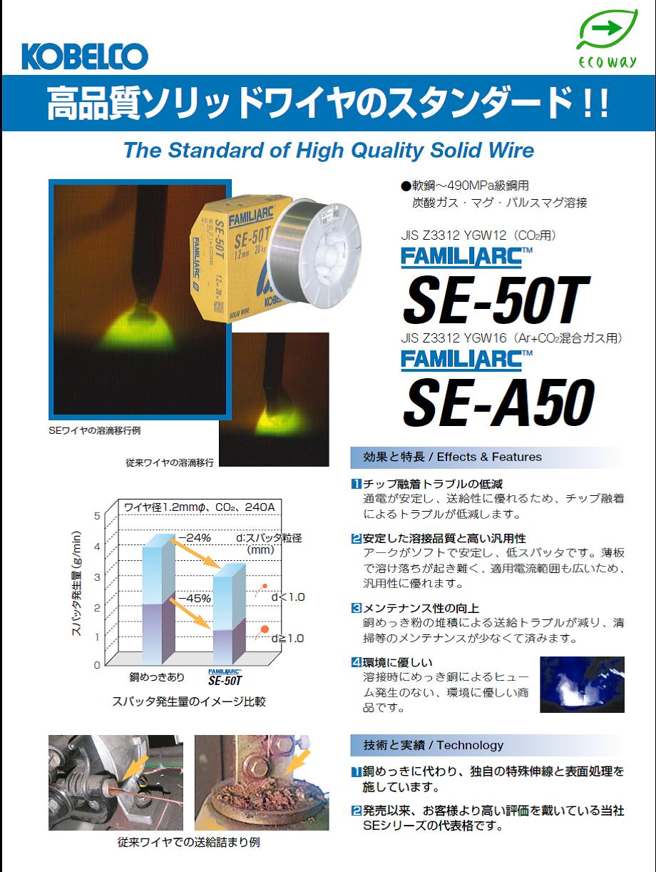 神戸製鋼 ソリッド溶接ワイヤ SE-A50