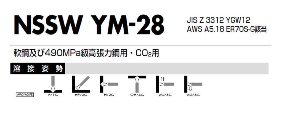 日鉄住金 溶接棒 YM-28